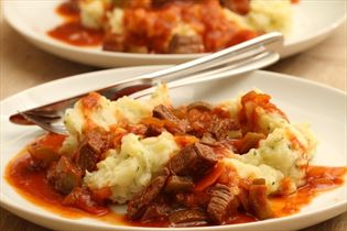 Goulash with mash