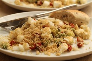 Couscous salad with feta
