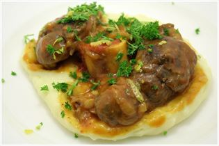 Osso buco with mashed potato