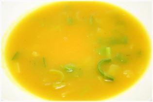 Hokkaido soup with leeks