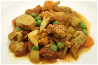 Chicken breast with Indian curry