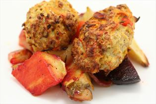 Turkey rissoles with root vegetables