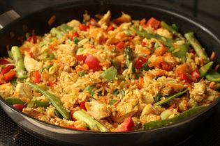 Chicken and curry stir-fry