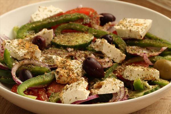 Greek meatloaf with tzatziki