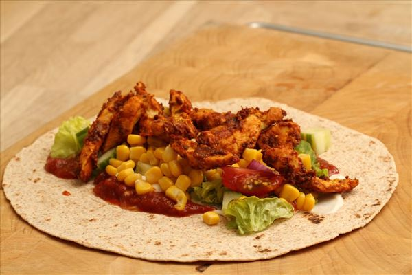 Mexican wraps with chicken