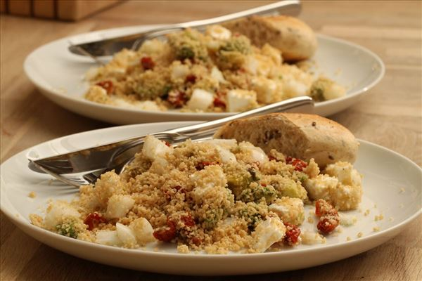 Couscous salad with feta