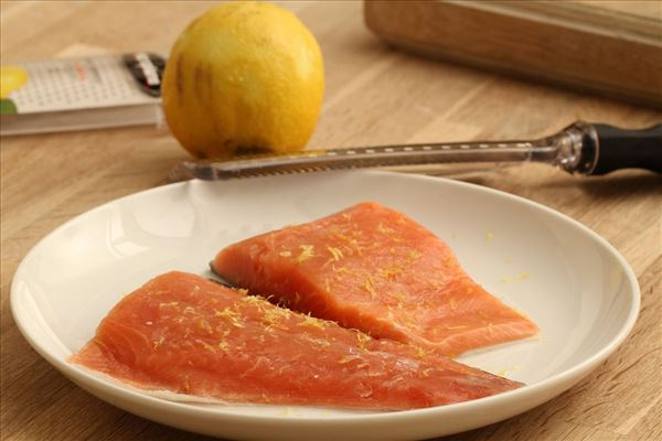 Salmon with lemon and Dijon potatoes