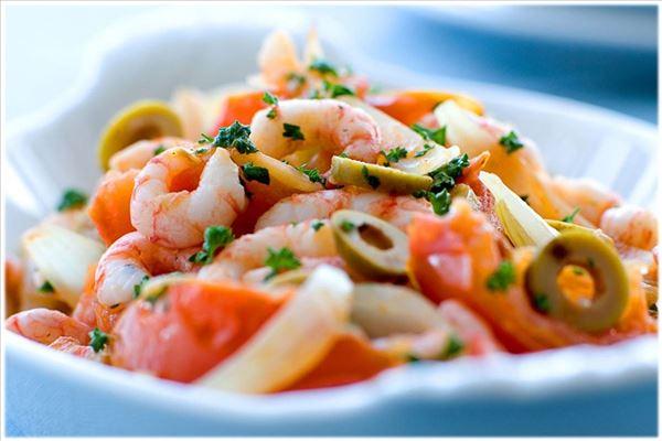Stew with prawns