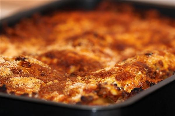 Lasagne with cottage cheese